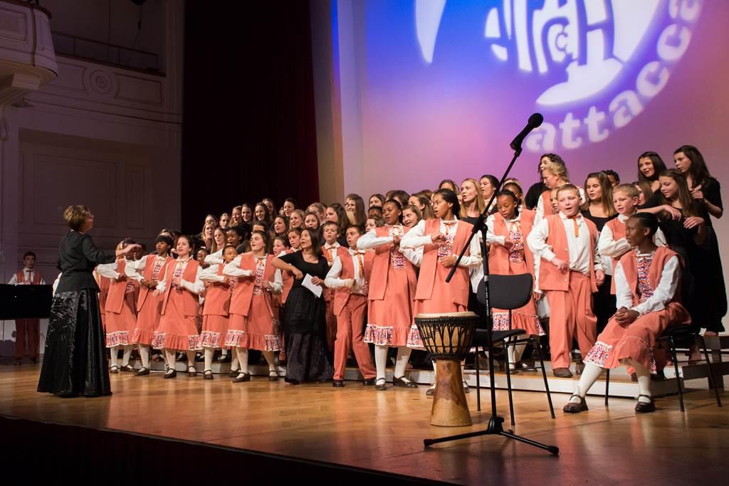 Bloemfontein Children's Choir v Unionski dvorani v Mariboru Foto: Urška Lukovnjak