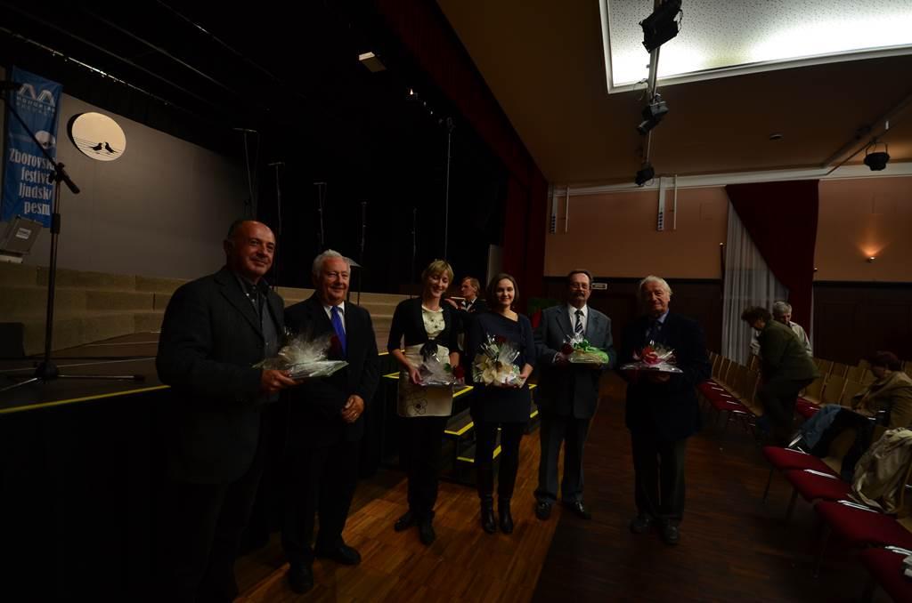 Skladatelji na 4. Zborovskem festivalu ljudske pesmi Prevalje, 2012 Foto: Uroš Grabner