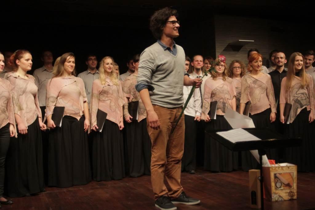 Na avtorskem večeru mladih skladateljev oktobra 2013 v Klubu Cankarjevega doma Foto: Goran Antelj