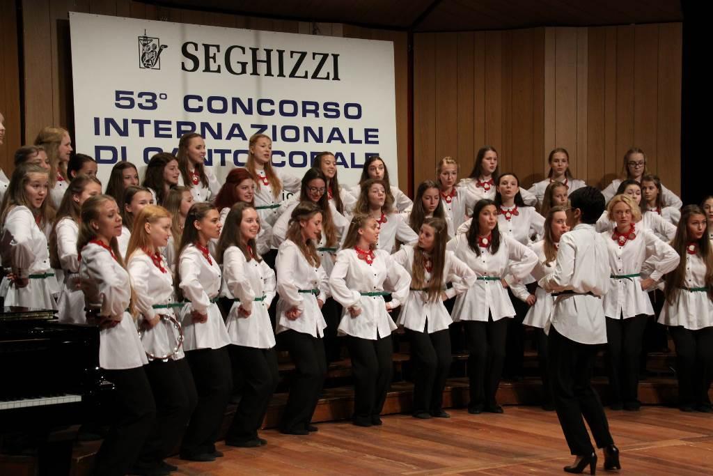Jazzovski zbor Državnega otroškega filharmoničnega društva (Rusija) Foto: arhiv tekmovanja Seghizzi