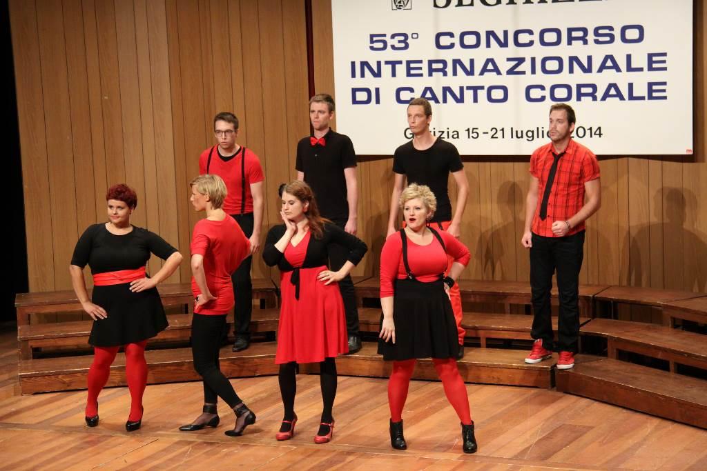 Vokalna skupina Jazzva, Slovenija Foto: arhiv tekmovanja Seghizzi
