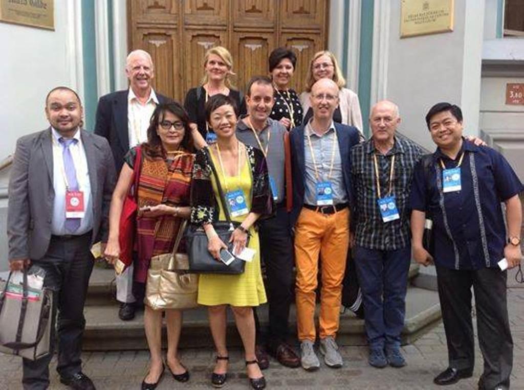 Člani Svetovnega zborovskega sveta v Rigi