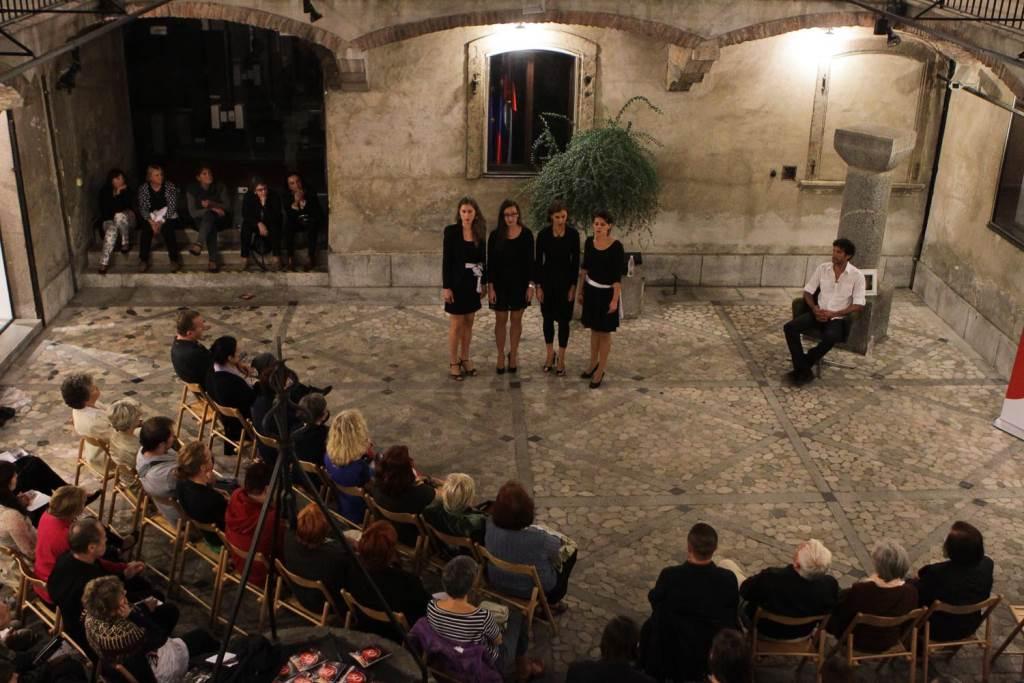 Jesenske serenade v atriju Magistrata v Ljubljani Foto: Goran Antlej