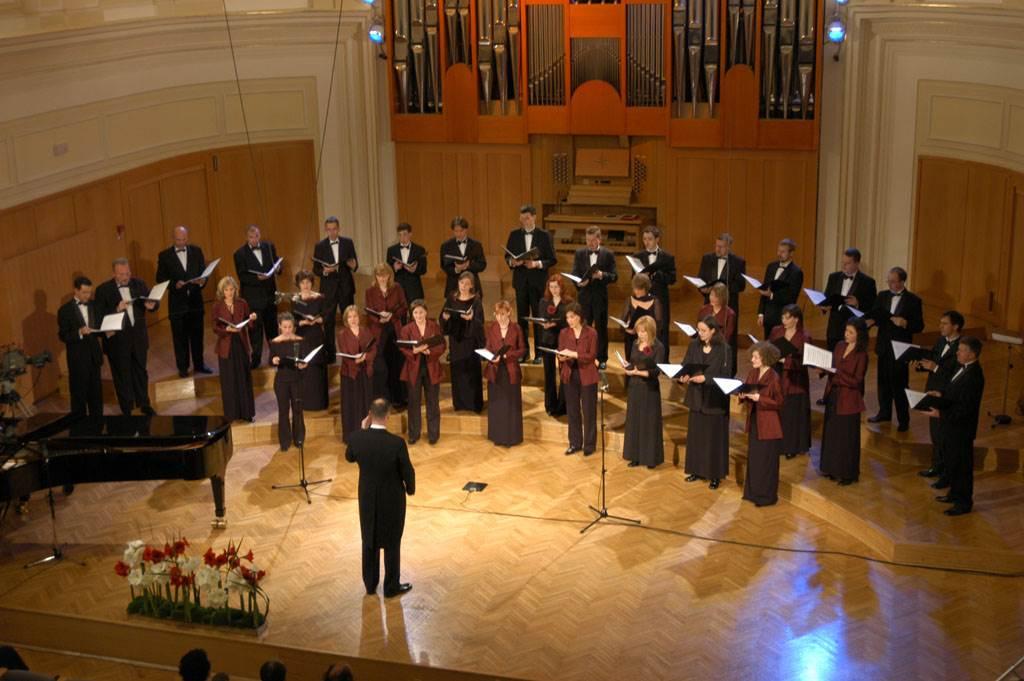 Koncert v Slovenski filharmoniji ob 20. obletnici Komornega zbora Ave Foto: arhiv KZ Ave
