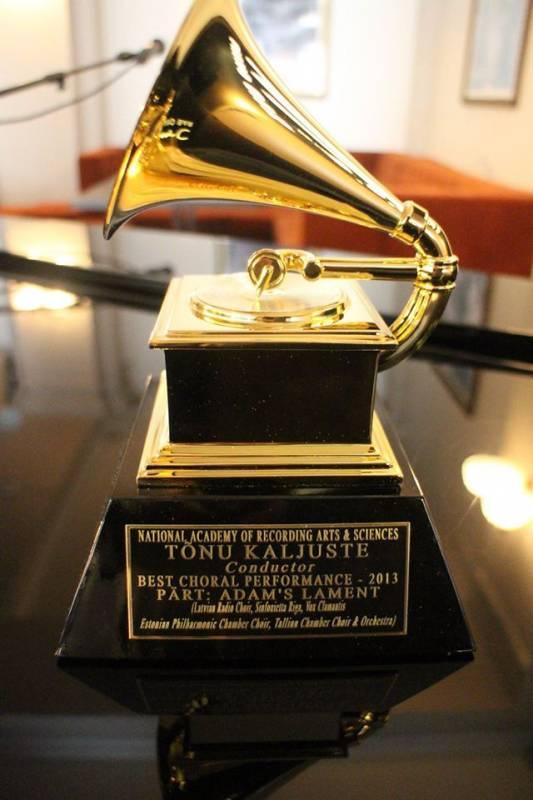 Tõnu Kaljuste je bil kar dvakrat nominiran za nagrado grammy – leta 1995 za album Arva Pärta Te deum in lani za album istega skladatelja Adam's lament, ki jo je je tudi osvojil. Foto: http://kultuur.err.ee