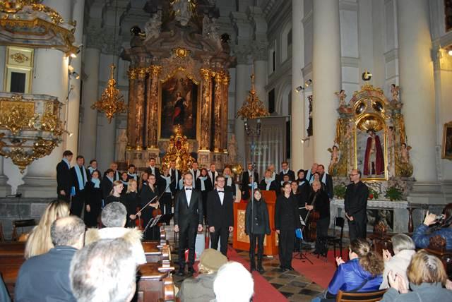KPZ Mysterium s solisti in orkester; Sakralni abonma 2014, G. F. Händel, Žalna oda; dir. Gregor Klančič Foto: Janez Fabijan