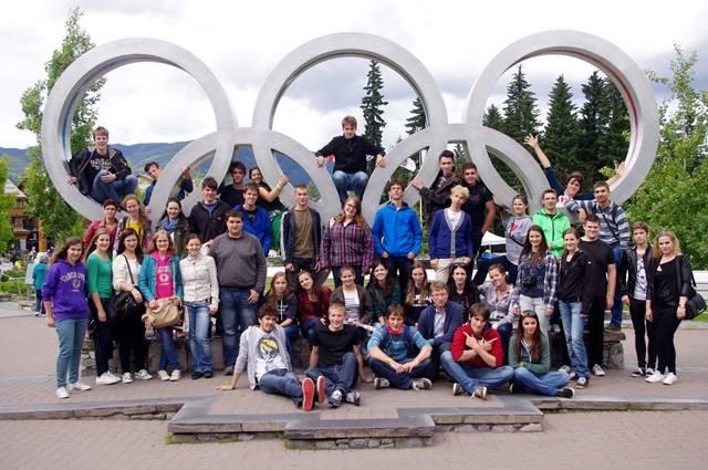 Olimpijski park v Whistlerju in Mladinski mešani zbor sv. Stanislava Škofijske klasične gimnazije Foto: Jana Jocif