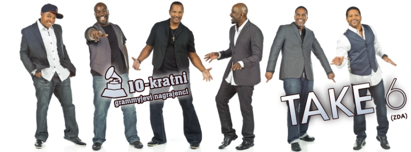 Današnji člani TAKE 6: Mark Kibble in Claude V. McKnight III – prvi tenor,  David Thomas in Joey Kibble – drugi tenor, Khristian Dentley – bariton, Alvin Chea – bas