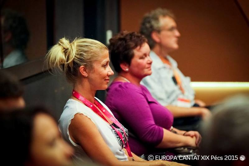 Martina Burger je bila zelo zadovoljna z odzivom na tečaj vokalne tehnike. Foto: Europa Cantat