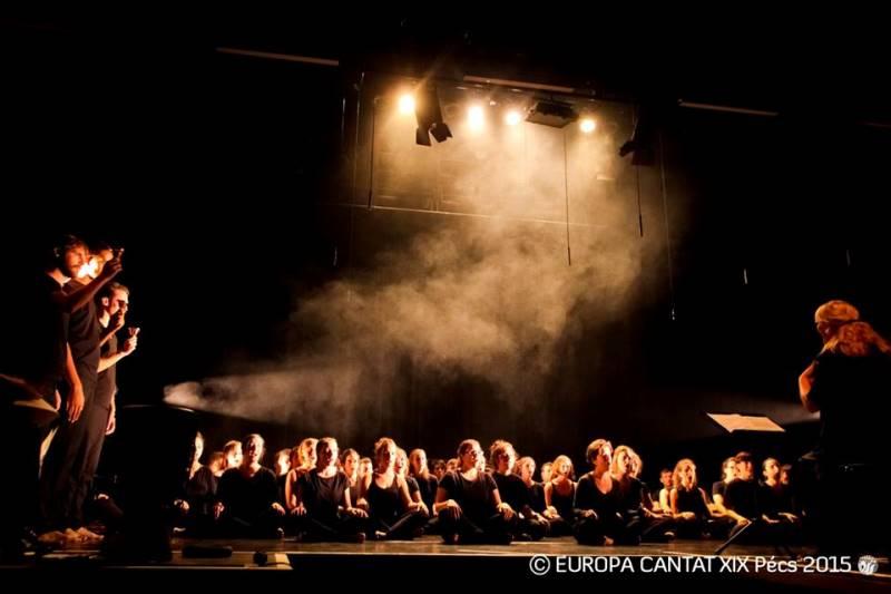 Nastop ateljeja Karmine Šilec z naslovom »Choregie – napredna in inovativna zborovska umetniška oblika« Foto: Europa Cantat