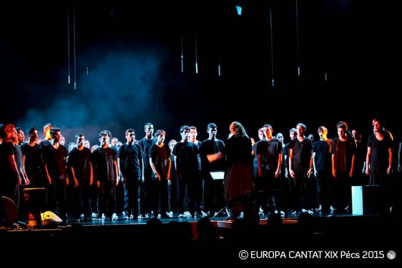 Delavnice Karmine Šilec se je udeležila mešana skupina mladih iz štirih držav. Foto: Europa Cantat