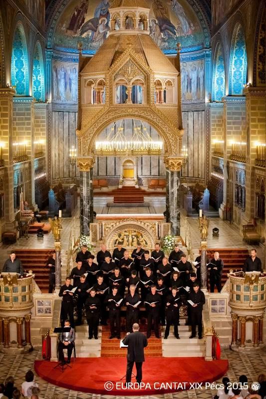 Lesk Hrvaškega radijskega moškega zbora v stolnici mesta Pécs Foto: Europa Cantat