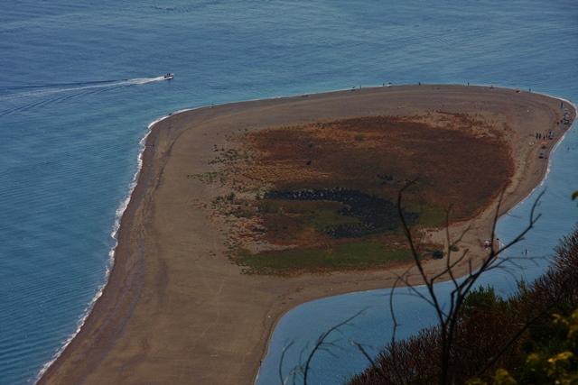 La lingua di sabbia – peščeni jezik v Tindariju Foto: Branka Kljun