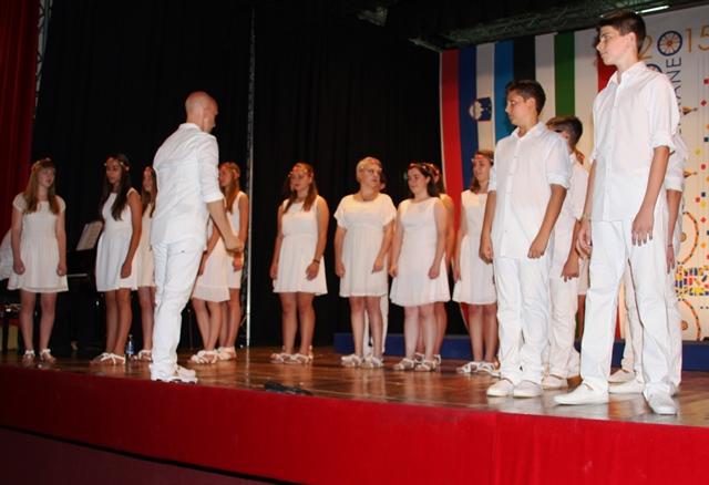 Mladinski zbor Emil Komel Gorica, zborovodja David Bandelj Foto: Branka Kljun
