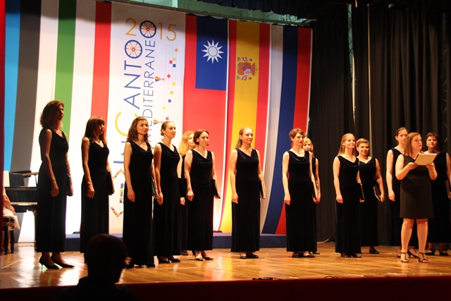 Ženski zbor Ozarenie iz Moskve – zmagovalec tekmovanja Foto: Branka Kljun