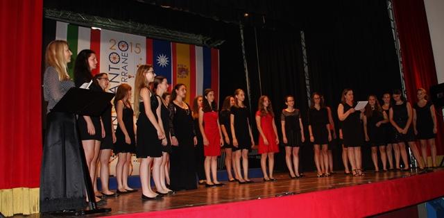 Dekliški zbor Glasbene šole Koper, zborovodkinja Maja Cilenšek Foto: Branka Kljun