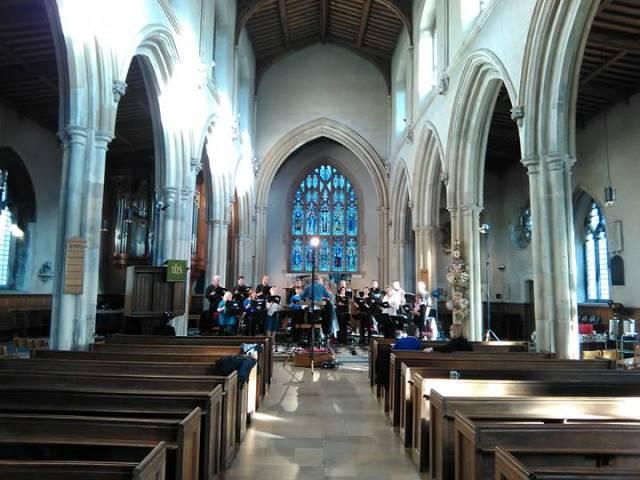BBC Singers na zadnji vaji pred koncertom Foto: arhiv ECSA