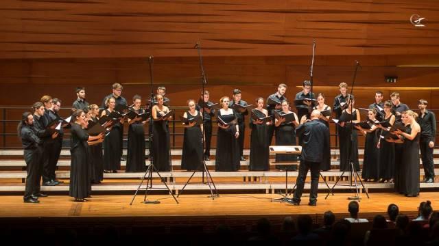 Italijanski mladinski zbor, dir. Gary Graden, na Europa cantat v Peczu na Madžarskem letos poleti Foto: osebni arhiv