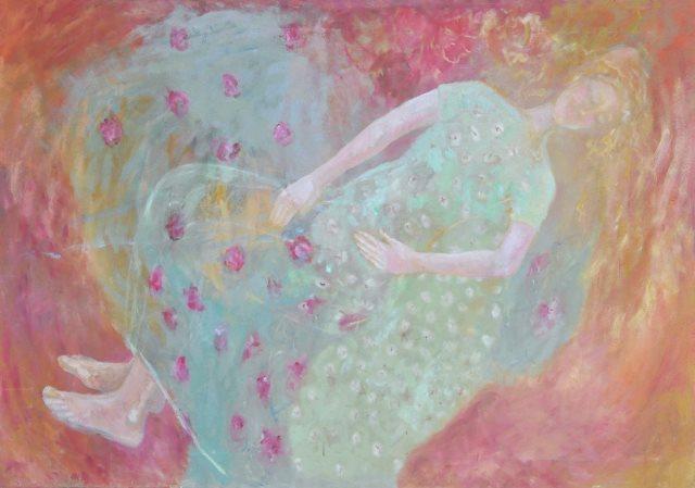 Evgenija Jarc, Prosojna nevesta, olje na platnu, 140 x 100
