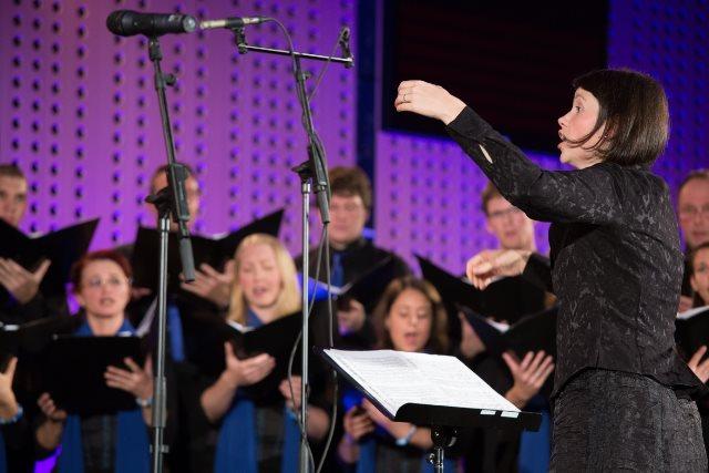 Urška Štampe, dirigentka KPZ Mysterium Foto: Veronika Savnik