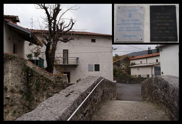 Premrlova rojstna hiša v Podnanosu s spominsko ploščo na fasadi Foto: arhiv avtorja