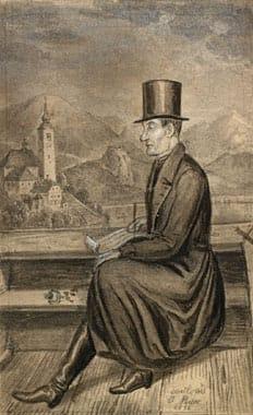 Gregor Rihar (1796–1863) v čolnu na Bledu – Janez Puhar