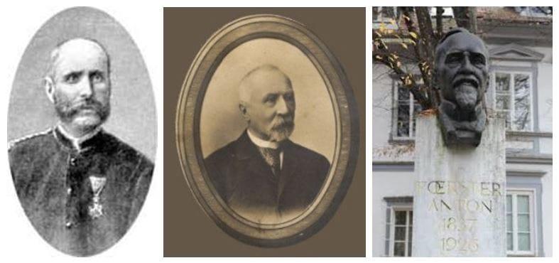 Davorin Jenko (1835–1914); Benjamin Ipavec (1829–1908); Anton Foerster (1837–1926) – Vegova 5, Ljubljana; kipar Lojze Dolinar