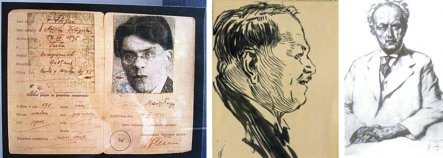 Marij Kogoj (1892–1956), osebna izkaznica; Emil Adamič (1877–1936) – Ivan Vavpotič; Anton Lajovic (1878–1960) – Božidar Jakac