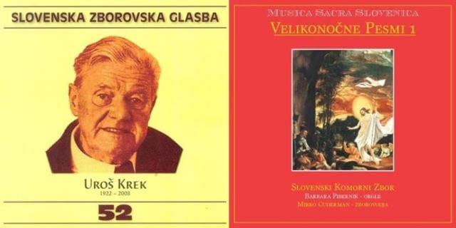 Zgoščenki iz antologijskih zbirk Slovenska zborovska glasba in Musica Sacra Slovenica