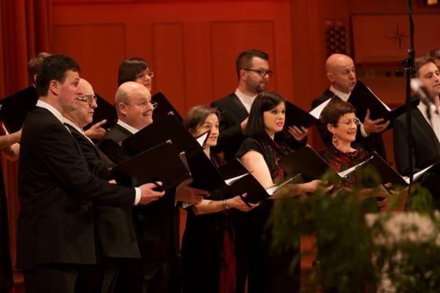 Slavnostni koncert ob 25. obletnici zbora je potekal v soboto 5. marca 2016 v Slovenski filharmoniji v Dvorani Marjana Kozine pod naslovom Praznujmo s pesmijo. Foto: Darja Štravs Tisu