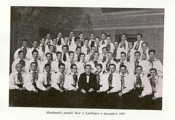 Akademski pevski zbor leta 1937 Foto: arhiv NUK