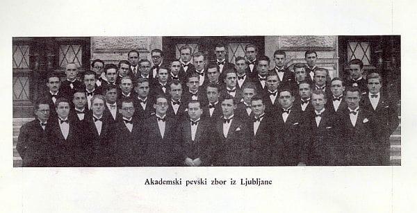 Akademski pevski zbor z Maroltom na čelu v času največje slave Foto: arhiv NUK