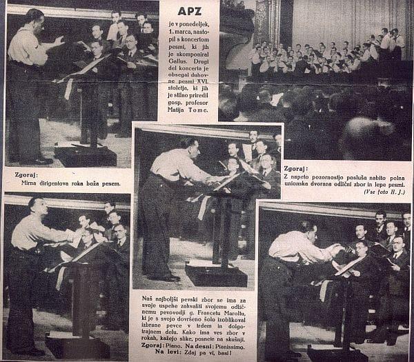 France Marolt se je znal razživeti med izvedbo svojega APZ-ja. Foto: arhiv NUK