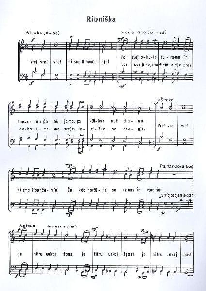 Marolt je znal odlično prirejati narodne pesmi. Najbolj znana je njegova Ribniška, v kateri je predstavil venec dolenjskih motivov. Foto: arhiv NUK