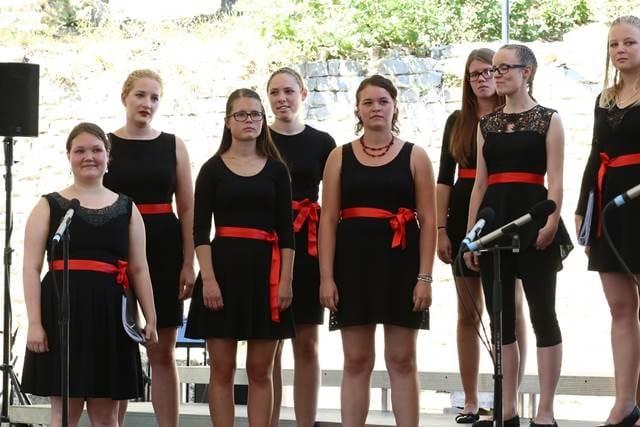 Allredova tokratna delavnica, ki se je je udeležil tudi zbor Crescendo, je ponudila raznolik program ameriške glasbe. Foto: Delphine Barbier Baritaux
