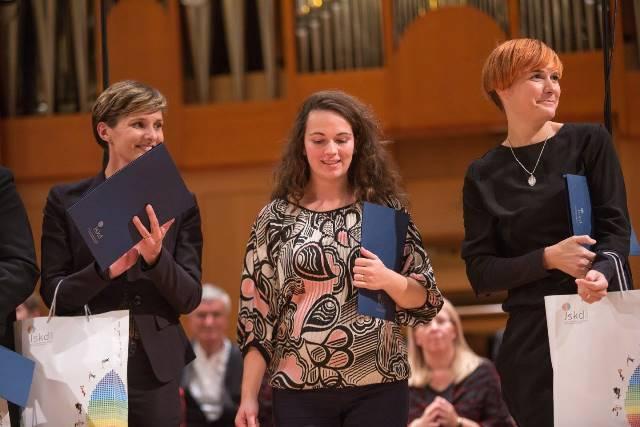 Polfinalistke: Mateja Černic, Klara Maljuga in Helena Buhvald Gorenšek Foto: Darja Štravs Tisu