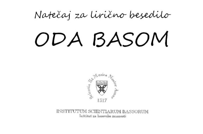 Natečaj za lirično besedilo – ODO BASOM