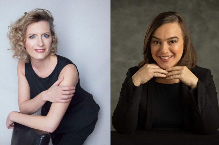 Med nagrajenci JSKD za leto 2020 Helena Fojkar Zupančič in Jerica Bukovec