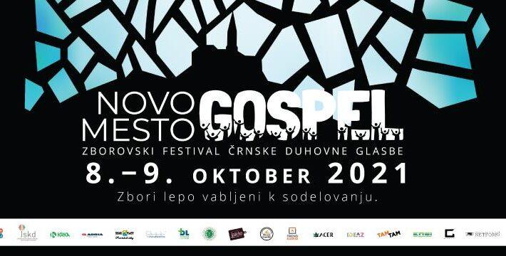 2. Zborovski festival črnske duhovne glasbe – GOSPEL NOVO MESTO, 8.–9. 10. 2021