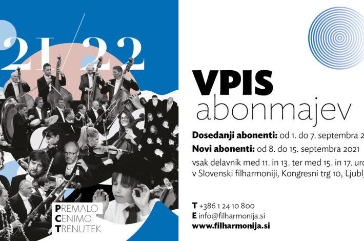 Slovenska filharmonija vabi k vpisu abonmajev