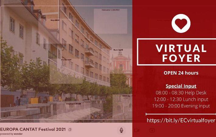 EC Virtualno središče – Virtual foyer 24 ur/dan – druženje, izmenjava vtisov in ustvarjanje novih poznanstev