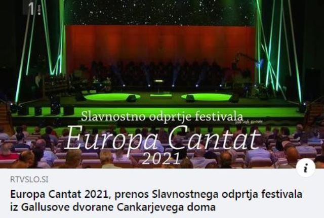 TV-posnetek slavnostnega odprtja festivala Europa Cantat dostopen na RTV 4D
